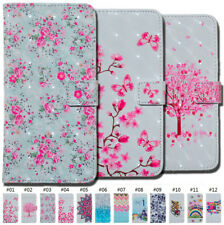 For Apple Luxury Painted 3D Wallet Flip Stand Strap PU Leather Card Case Cover