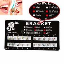 10Packs Orthodontic Dental Metal Bracket Brace Mini MBT Slot022 3-4-5Hooks