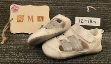 """Surprize by Stride Rite """"Kellyn"""" Infant Sandals Off White/Silver Colored 12-18m"""