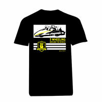 Black 3 Wheeling T-shirt Official 3 Wheeling Around the World Sidecar Racing Tee