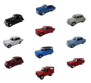 Lot de 10 voitures miniatures 1/43 Simca Mercedes Peugeot Renault Model Car LP17