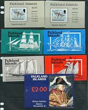 Weeda Falkland Islands Booklets SG SB1-5, 7, 1977-88 issues Gibbons CV ₤85.25