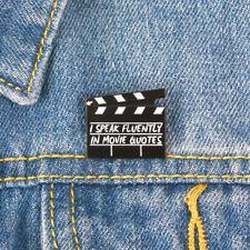 Unisex Film Ciak Smalto Spilla Denim Giacca Collare Distintivo Nice