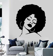 Wall Stickers Vinyl Decal  Black Beauty Sexy Hot African Woman Full Lips EM169