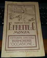 1926-frette e c.-fabbriche telerie-offerte speciali biancherie-occasione