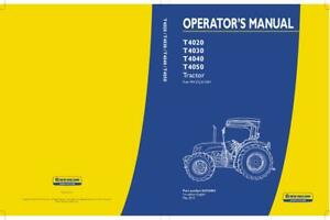 NEW HOLLAND T4020 T4030 T4040 T4050 STANDARD TRACTOR OPERATOR`S MANUAL