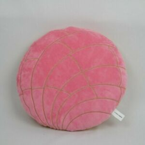 Pink concha travel pillow, pan dulce, Mexican culture, decorative pillow