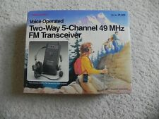 Realistic Voice Operated Two-Way 5-Channel 49Mhz Fm Transceiver Trc-502 New