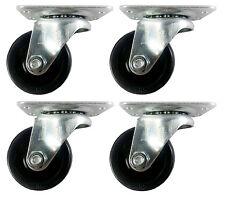 """2""""  Hard Rubber Wheel Caster - 4 Swivels"""