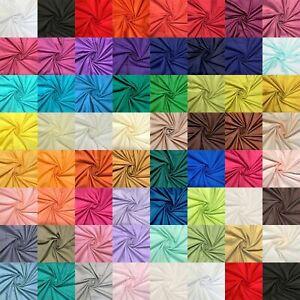 Plain Polycotton Fabric Bunting 60 Colour Dress Craft Sheet 112cm wide Per Metre