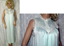 New listing Vtg Christian Dior Blue Embroidered Nigtgown S M