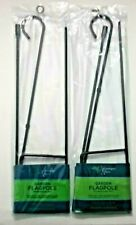 "New listing Hummingbird Haven Metal Garden Flag Pole 3 Piece Pc Design 12.5""x18"" (Lot of 2)"