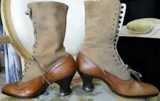 Vintage 1910s Brown Leather Boots Size 4 Edwardian