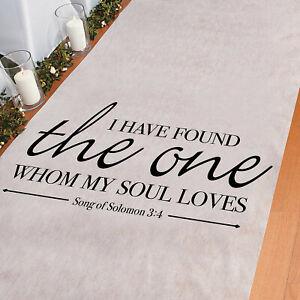 Song Of Solomon Aisle Runner Wedding Ceremony Decorations - 3' x 100'