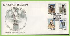 Solomon Islands 1992 Centenary of Sgt-major Jacob Vouza First Day Cover
