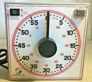 Vintage Gralab Model 171 Darkroom Timer 60 Minute 2-Outlets Tested/Works
