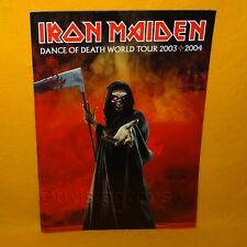 IRON MAIDEN DANCE OF DEATH WORLD TOUR 2003 2004 CONCERT PROGRAMME PROGRAM