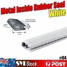 Car Van Exterior Pinchweld Rubber Seal Edge Trim White Metal Clip DIY Strip 39ft