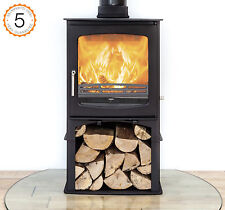 Purefire 10kw Curve With Stand  Woodburning Stove Stoves Burner Multi Fuel