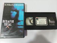 Desafio Total Recall VHS Tape Arnold Schwarzenegger Paul Verhoeven Spanisch