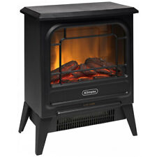 Dimplex MCFSTV12 1.2kW Optiflame LED Electric/Portable Microstove Fire Heater BK