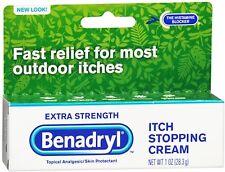Benadryl Itch Stopping Cream Extra Strength 1 oz (Pack of 7)