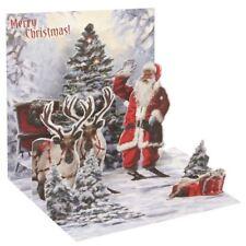 Pop-Up Christmas Card Trearures by Popshots Studios - Jolly Santa