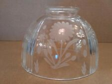 """NEW Ceiling Fan Center Glass Victorian Clear Crystal Flower 3 1/4"""" Shade Globe"""