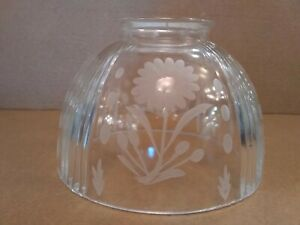 "NEW Ceiling Fan Center Glass Victorian Clear Crystal Flower 3 1/4"" Shade Globe"