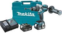 """Makita XPH07MB 18V LXT Li‑Ion Brushless Cordless 1/2"""" Hammer DriverDrill Kit 4Ah"""
