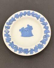 "Rare Blue on White Jasperware Wedgewood Mini Display Plate 4 1/2"" Euc"