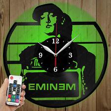 LED Vinyl Clock Eminem LED Wall Art Decor Clock Original Gift 5327
