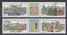 GERMANY - DDR 1988 MNH** SC#  2678 - 2681a Youth Stamp Exhibitions in Erfurt and