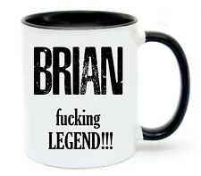 Personalised Name Fucking Legend Coffee Cup Mug Birthday Fathers Day Gift