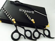 "5.5""Professional Hair Cutting & Thinning Scissors Barber Shears Hairdressing Set"