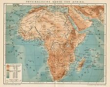 B6224 Africa phisical - Carta geografica antica del 1901 - Old map