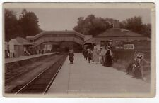 DEVON, YELVERTON, THE RAILWAY STATION, 1913, RP