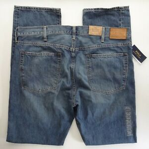 NWT Polo Ralph Lauren 40x36 Tall The Hampton Relaxed Straight Fit Jeans Stanton