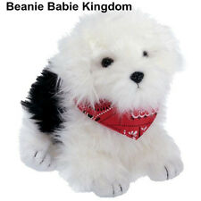 TY BEANIE BABIE * HOBO * THE BLACK & WHITE DOG WEARING A RED SCARF