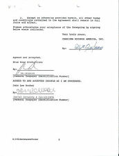 Rare 1992 John Lee Hooker Signed 2 Page Charisma Records Contract!