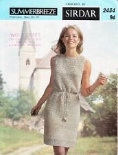 VINTAGE 60'S CROCHET PATTERN SIMPLE CROCHET DRESS