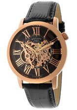 NEW RotarY GLE000017-10 Skeleton  Automatic Rose Gold Limited Ed. Black