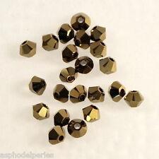 50 perles  toupies en cristal de Swarovski  5328 Crystal dorado 2X 3 mm