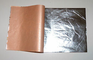 Composition Silver Leaf Sheets 100 Leaves - 14  x 14 cm - For Gilding - Art Work