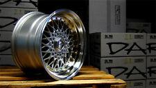 """Dare rs 16"""" x 9J ET20 4x100 4x108 silver gold rivet roues en alliage paire seulement Z1752"""