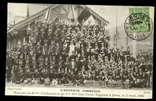 More details for channel islands jersey 1906 l'entente cordiale ppc military bands east surrey rg