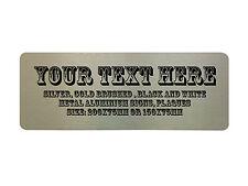 Ros custom personnalisé votre texte en métal aluminium panneau porte plaque maison bureau