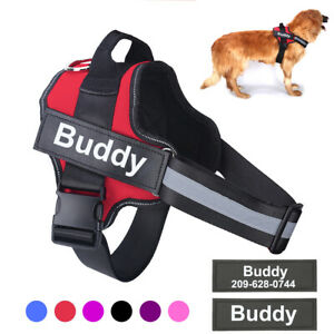 Personalized Tag Dog Harness Non-PULL Reflective Breathable Adjustable Pet D673