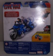 MARVEL CIVIL WAR WINTER SOLDIER CAPTAIN AMERICA WITH BLAST ACTION CYCLE G-12