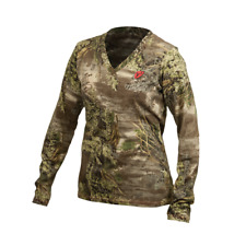 ScentBlocker Sola Womens S3 Fused Cotton L/S Tee T Shirt Real Tree Max 1 Size M